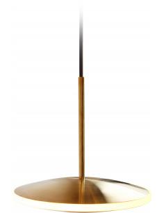Suspension en laiton Dish10h Ø24 chrona par Graypants X Seth Grizzle et Jonathan Junker en forme de soucoupe