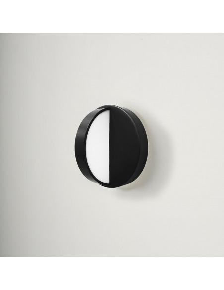 Applique murale design PLUS Led noir en acier par NOCC X Eno studio
