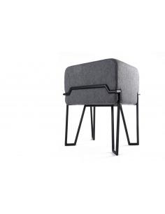 Tabouret design Bokk noir/gris en feutre
