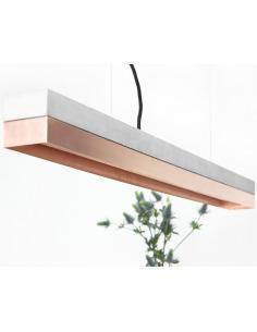 Suspension Design C1 Cuivre rectangulaire Beton