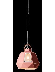 Suspension Lanterne en fer avec une petite fenêtre au design géométrique