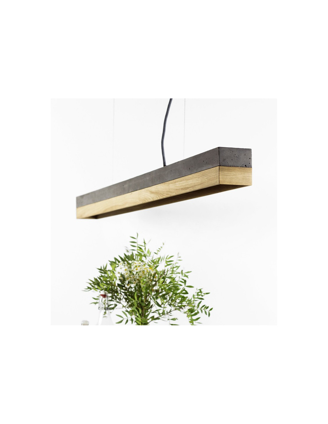Suspension Design C1 Rectangular Bois Ch Ne Noir En B Ton Otoko