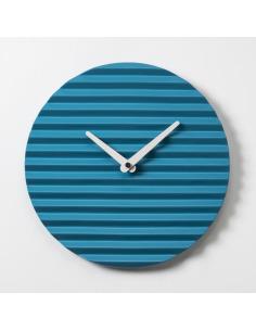 Horloge murale design WaveClock Bleu et blanc en céramique