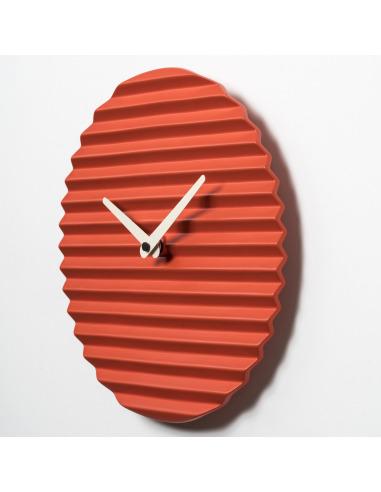 Horloge Murale Design Waveclock Rouge Et Blanc En Céramique