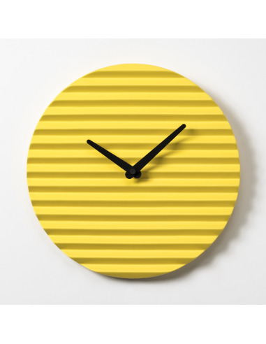 Horloge Murale Design Waveclock Jaune Et Noir En Ceramique