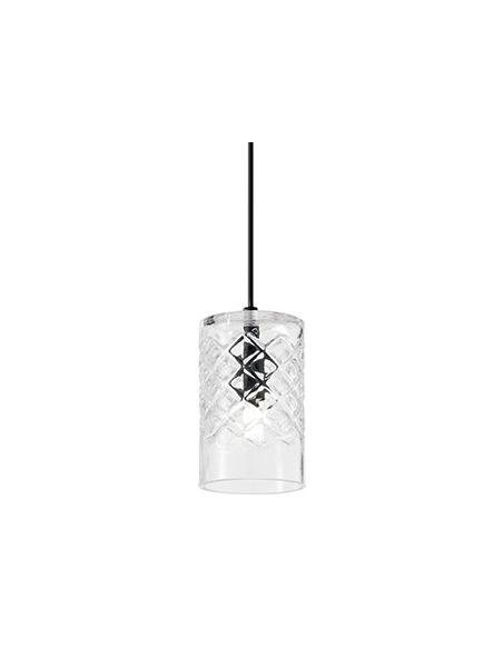 Suspension Bolla 2 Ø9cm en verre soufflé pour un design vintage