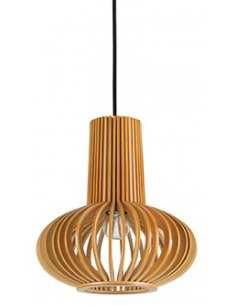 Suspension scandinave Lamello 2 en bois naturel pour un design scandinave