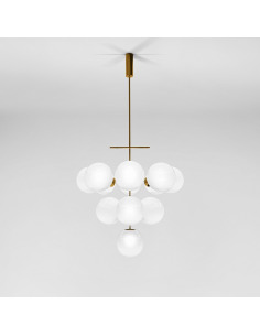 Suspension PLANETS 13L Ø80 cm par Jamo Associates X Lumen Center Italia