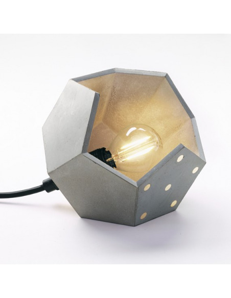 Lampe à poser magnétique Basic DUETTO solo concrete avec un élément magnétique en béton par Plato Design