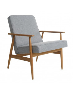 Fauteuil Fox Tweed en frêne massif au design scandinave et vintage par 366 Concept Retro Furniture