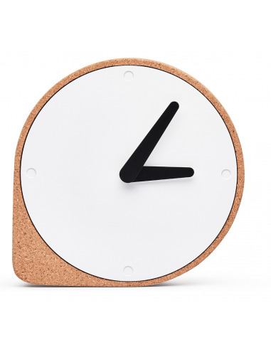 Horloge de table Clork Puik Art en liège et en acier par Ilias Ernst X Puik Art