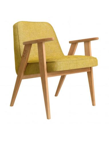 Fauteuil 366 Armchair Loft en chêne massif au design scandinave et vintage par 366 Concept Retro Furniture