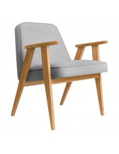 Fauteuil 366 Armchair Tweed en chêne massif au design scandinave et vintage par 366 Concept Retro Furniture