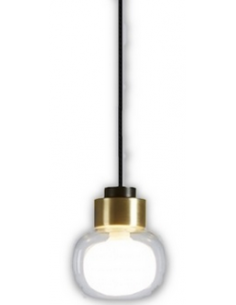 Suspension Nabila simple Petite en laiton brossé au design chic par Corrado Dotti X Tooy