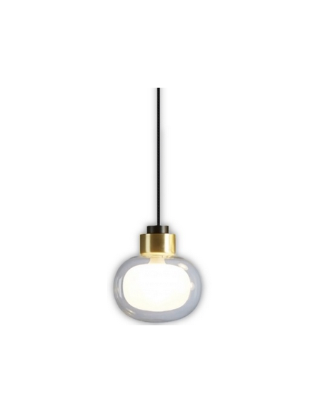 Suspension Nabila simple Large en laiton brossé au design chic par Corrado Dotti X Tooy