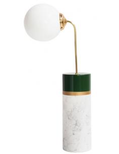 Lampe à poser Avalon Round en métal & céramique au design vintage par Carolina Micó X Houtique