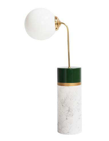 lampe a poser avalon round en metal ceramique au design vintage par carolina mico x houtique 5 Inspirant Lampe A Poser Ceramique Shdy7
