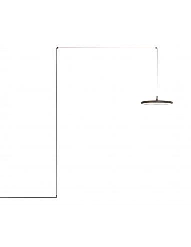 Suspension Bilancella Mur Led en métal au design minimaliste par Roberto Giacomucci X Tooy