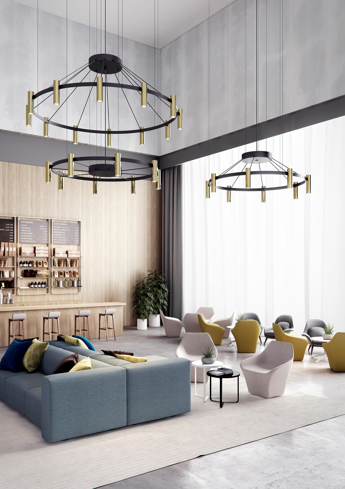 Suspension Chandelier 24 LED - Laverd par Estiluz