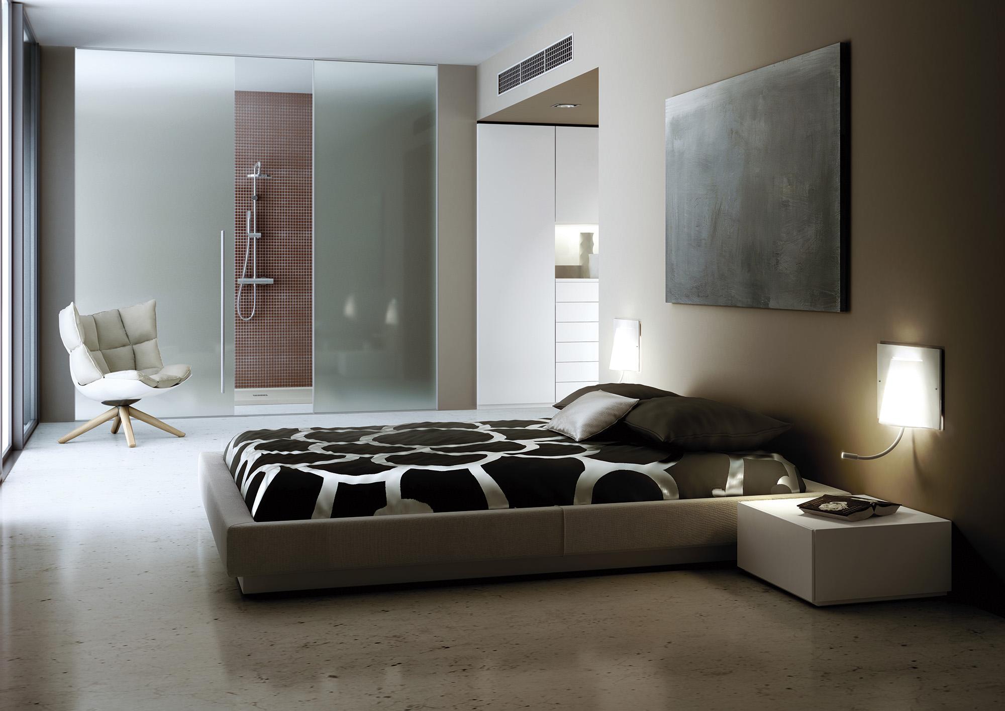 Applique Carpet en verre acrylique avec bras de lecture par Estiluz