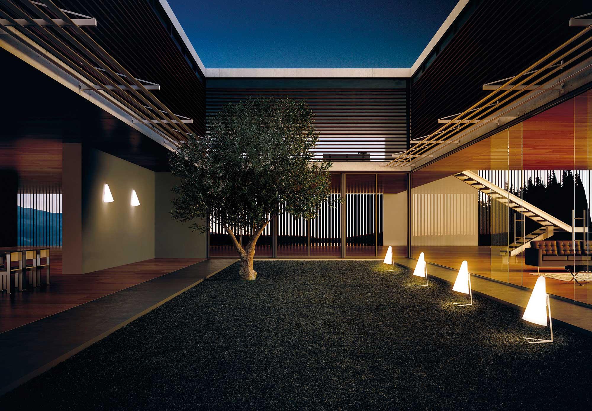 Mini-Lampadaire en aluminium - intérieur/extérieur Nan par Estiluz