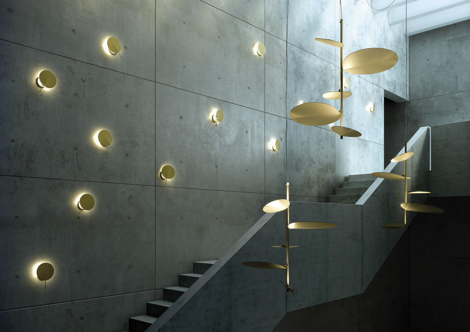 Suspsension LED métallique OBS par Estiluz