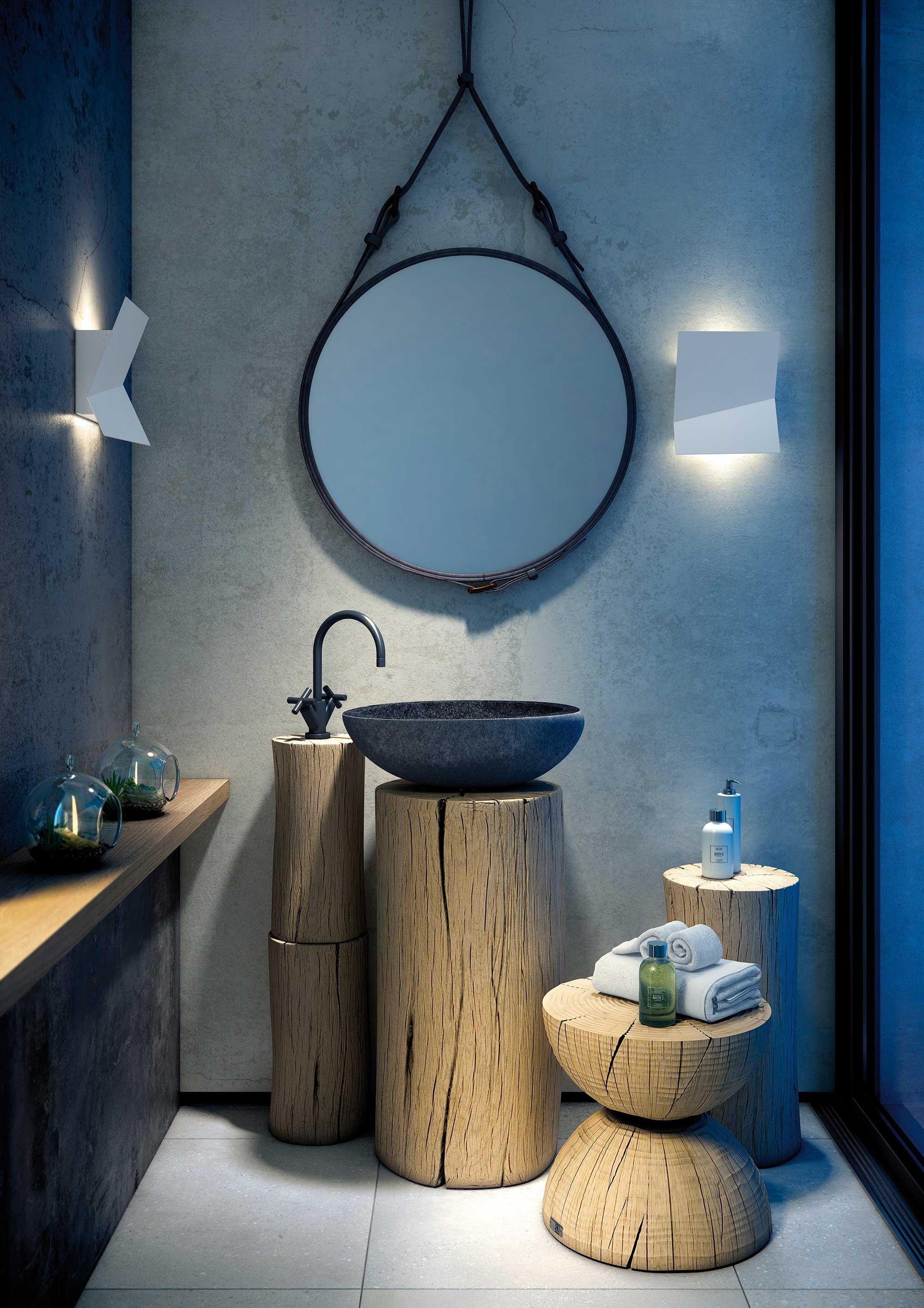 Applique murale LED intérieur/extérieur PIU par Estiluz