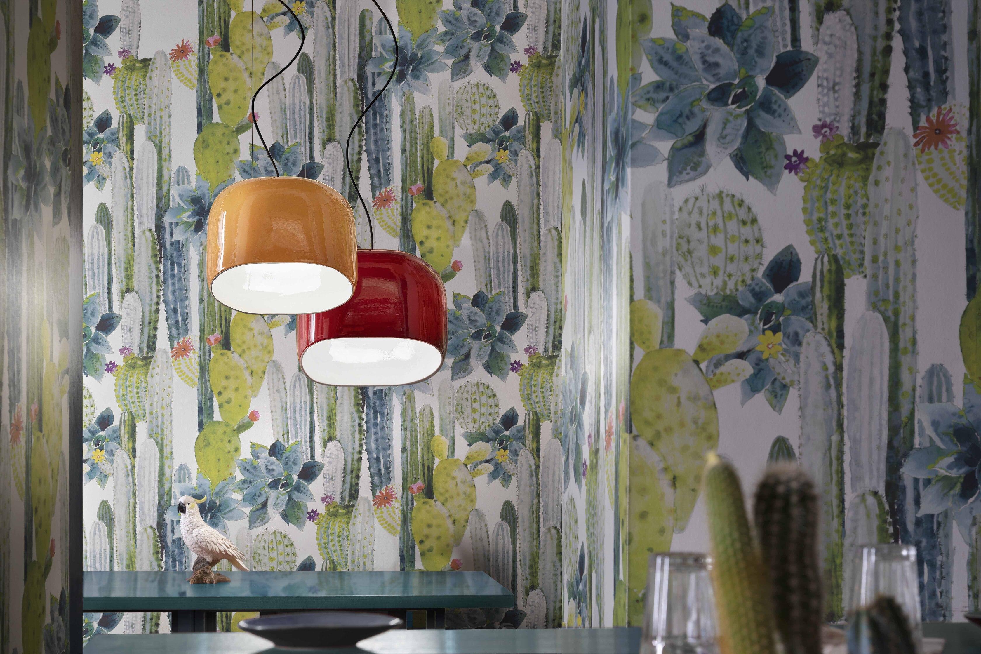 Suspension AYRTON 3 tailles en céramique brillante 4 coloris par Ferroluce
