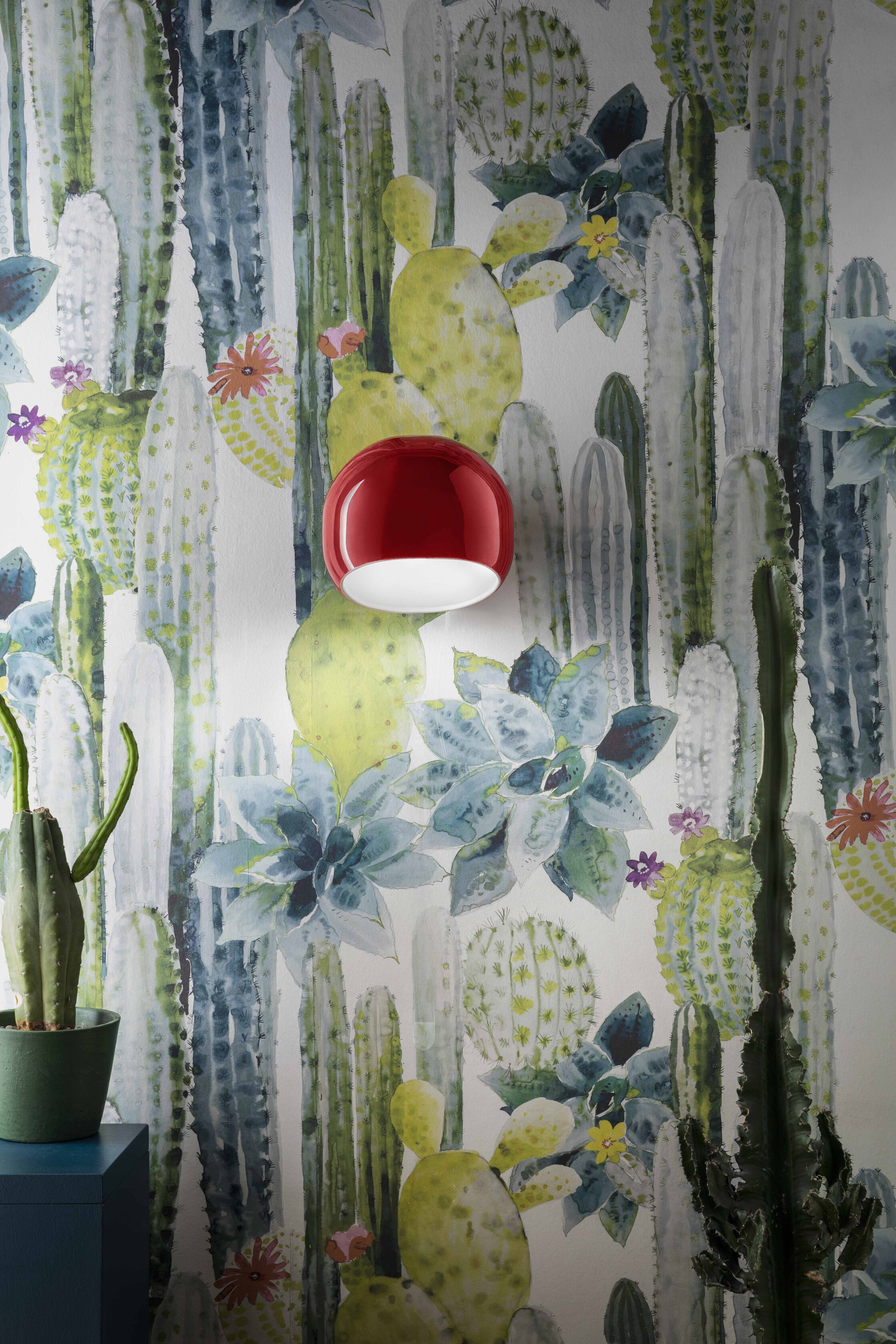 Applique AYRTON contemporaine en céramique brillante 4 coloris par Ferroluce
