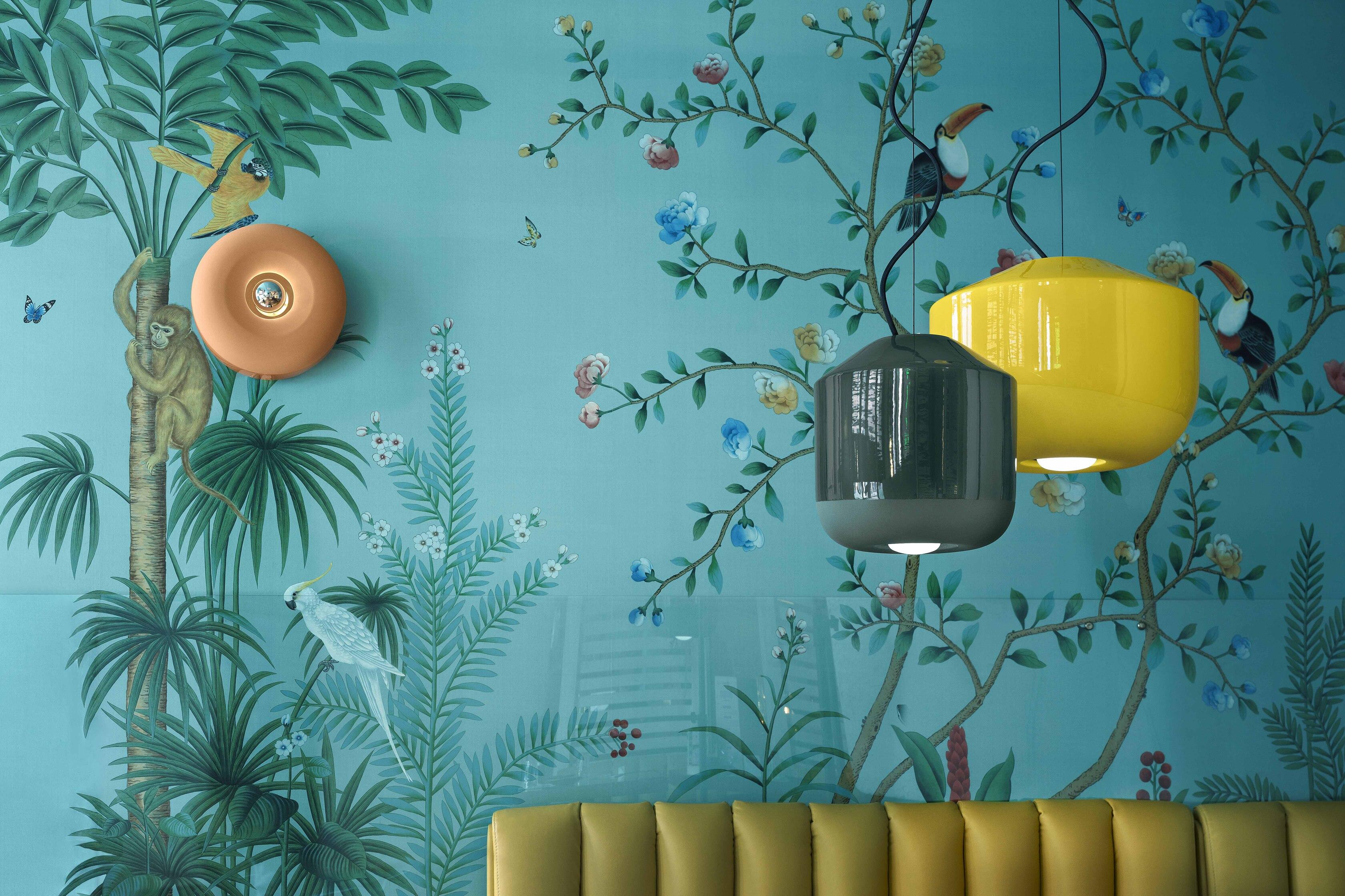 Suspension BELLOTA lanterne Ø24cm ou Ø35cm en céramique contemporaine en 4 coloris par Ferroluce