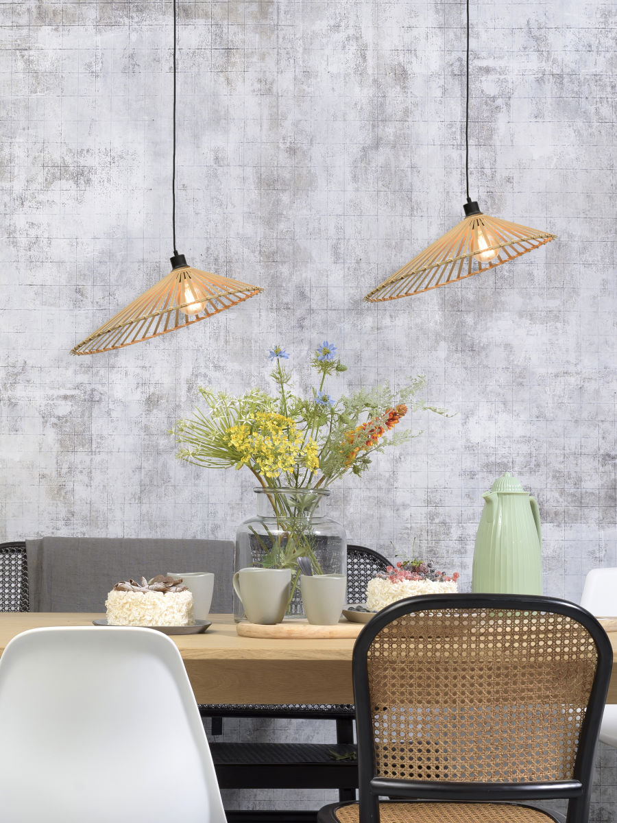Suspension Bromo en Bambou naturel au design naturel par Good & Mojo