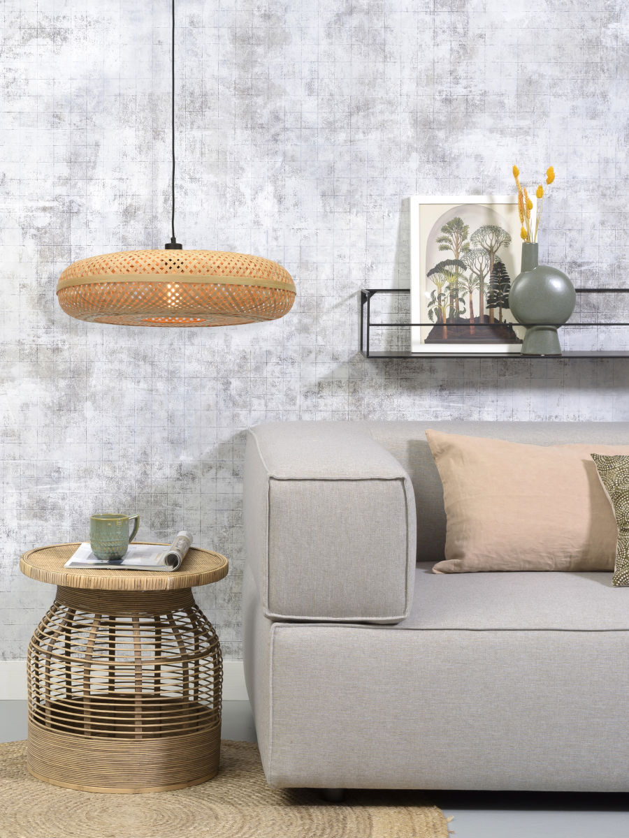 Suspension Palawan en Bambou naturel au design naturel par Good & Mojo