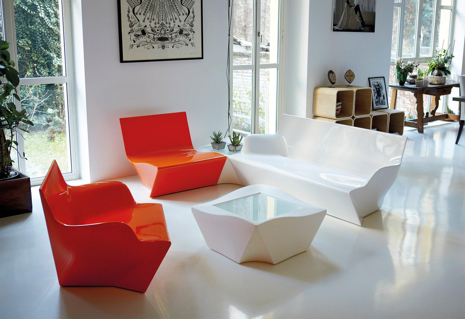 Bar lumineux Cordiale en polyéthylène par Roberto Paoli xSLIDE Studio