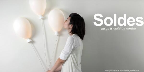 SOLDES Hiver 2018 - Jusqu'à -40% sur nos luminaires design, mobilier contemporain et notre déco.